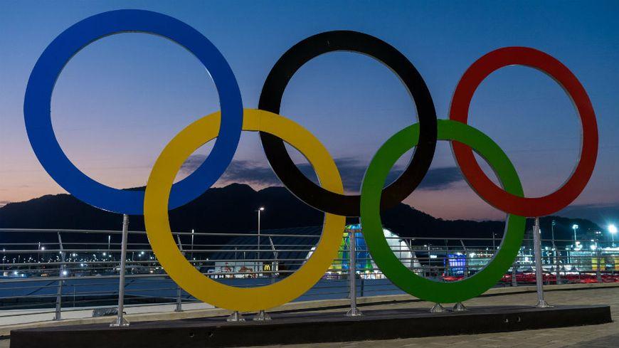 Les anneaux olympiques à Rio de Janeiro