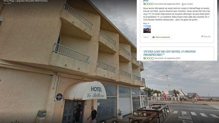 L'hôtel avait une très mauvaise réputation sur Internet / capture d'écran de Google Maps et TripAdvisor