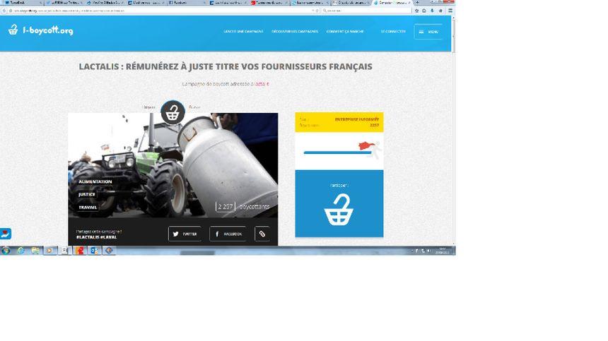 Capture d'écran du site i-boycott.org - Radio France