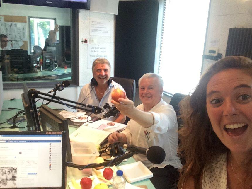 Daniel Poincelet et Jany Gleize aux côtés de Mélanie Masson - Radio France