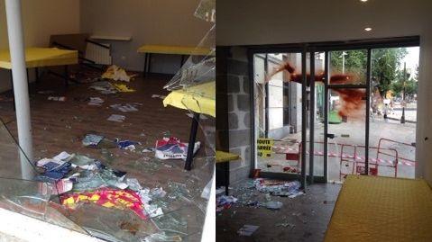 La permanence du FN à Aurillac a été saccagée dans la nuit de mercredi à jeudi.