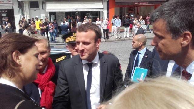 Emmanuel Macron à Laval le 25 juillet dernier pour la French Tech