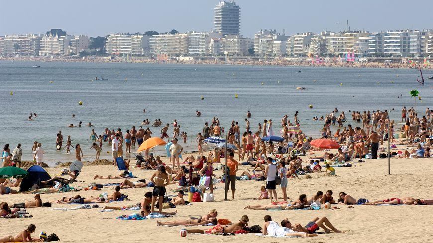 La plage de Pornichet est toujours très fréquentée.