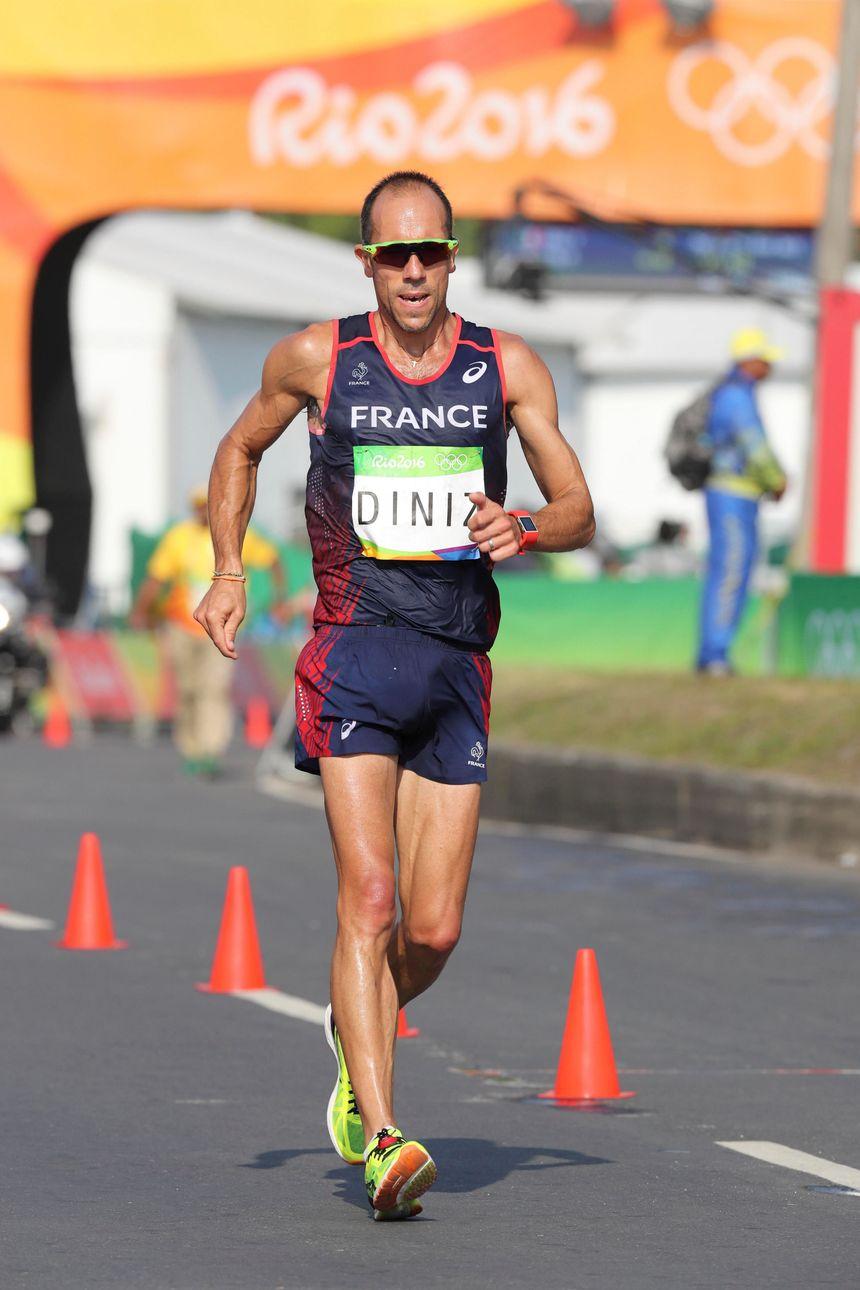Yohann Diniz a beaucoup souffert sur le parcours de Rio. - Maxppp