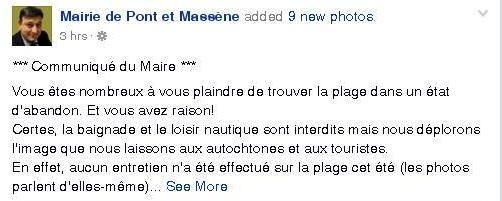 Sur son compte Facebook, la mairie de Pont-et-Massène s'adresse aux touristes et aux administrés mécontents - Aucun(e)