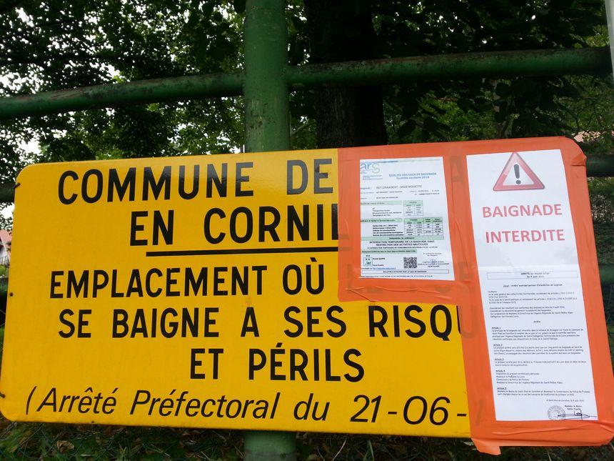 L'arrêté municipal est affiché sur la plage de Vigie Mouettes - Radio France