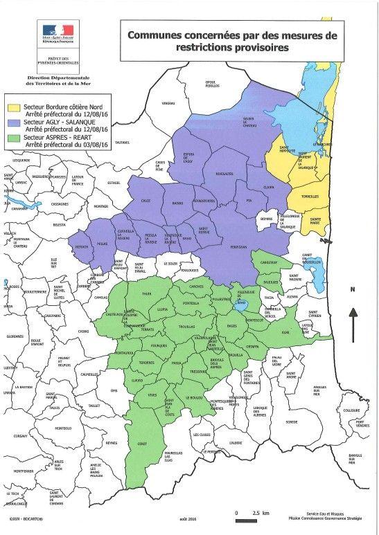 Les communes concernées par des mesures de restriction d'eau - Radio France