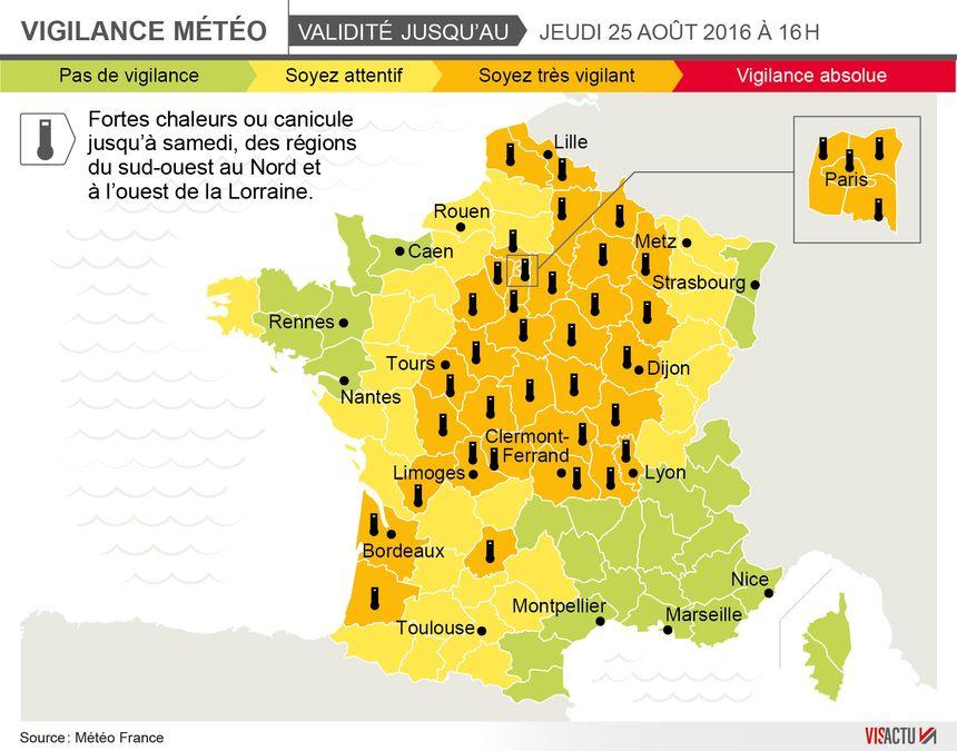 Le Puy-de-Dôme et l'Allier en vigilance orange canicule jusqu'à jeudi 16h - Aucun(e)