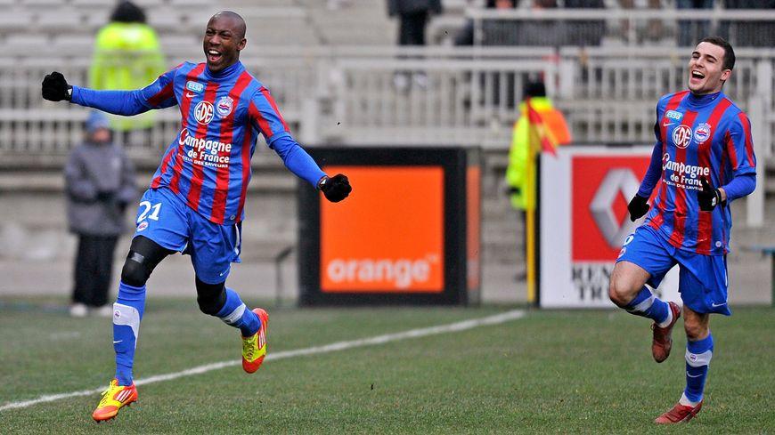 La joie de Livio Nabab après son but à Lyon