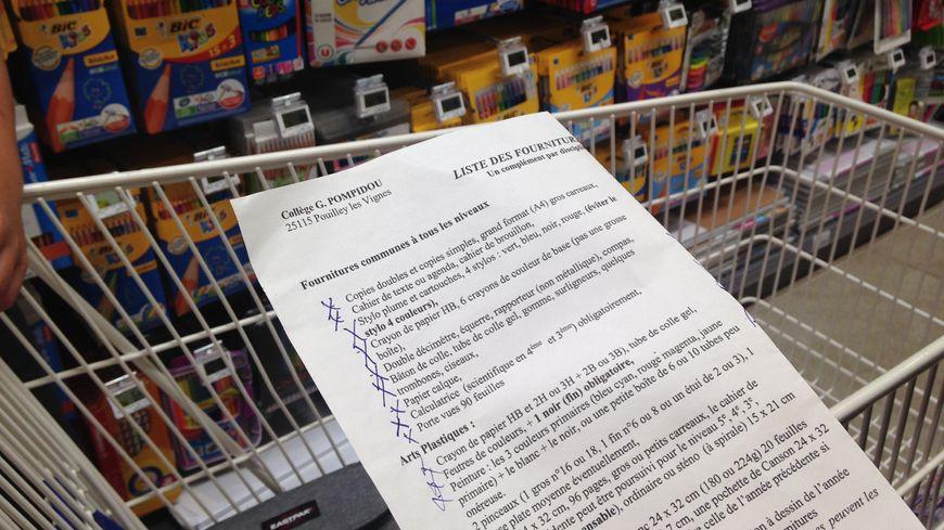 Pour faire les courses de fournitures, il faut un peu d'organisation