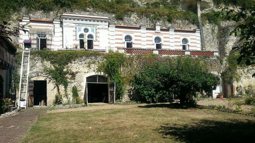Maison troglodyte à Vouvray-sur-Loir