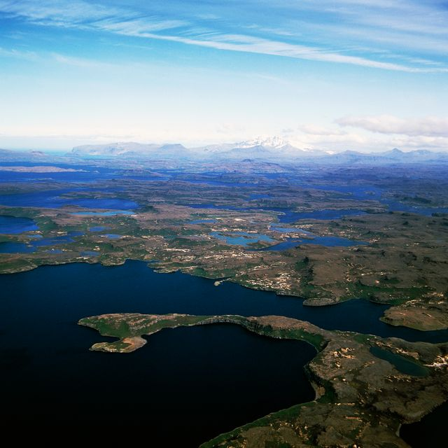 Vue des îles Kerguelen