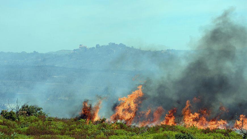 Image de l'incendie de Montalba dans les Pyrénées-Orientales