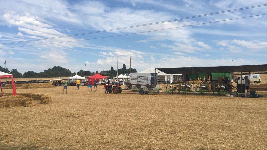 Samedi, la canicule a dissuadé les visiteurs de début d'après-midi à la fête de l'agriculture.