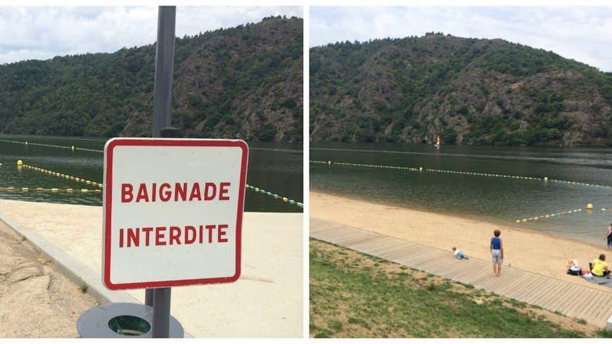 Ce panneau est rangé ce vendredi à Saint-Victor sur Loire... mais il ne saurait tarder à ressortir bientôt.