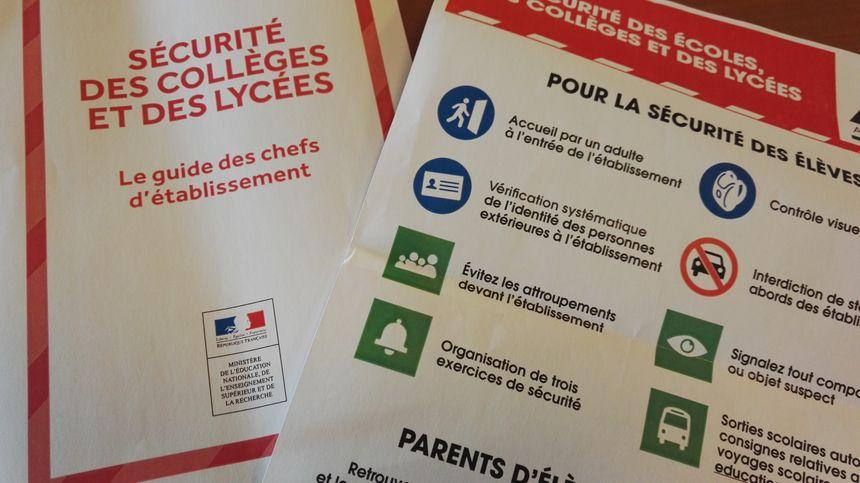 """Le guide """"alerte attentat"""" de chaque chef d'établissement - Radio France"""