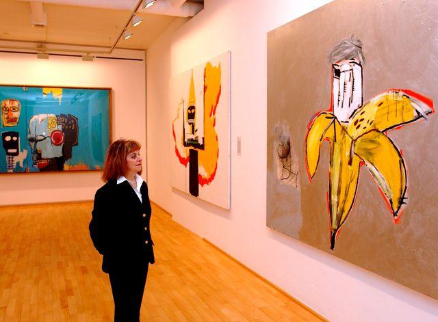 Une banane encore, ici interprétée par l'Américain Jean-Michel Basquiat