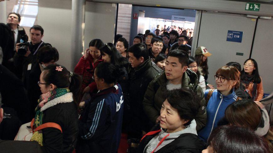 Des touristes chinois à l'aéroport Roissy Charles-de-Gaulle (illustration)