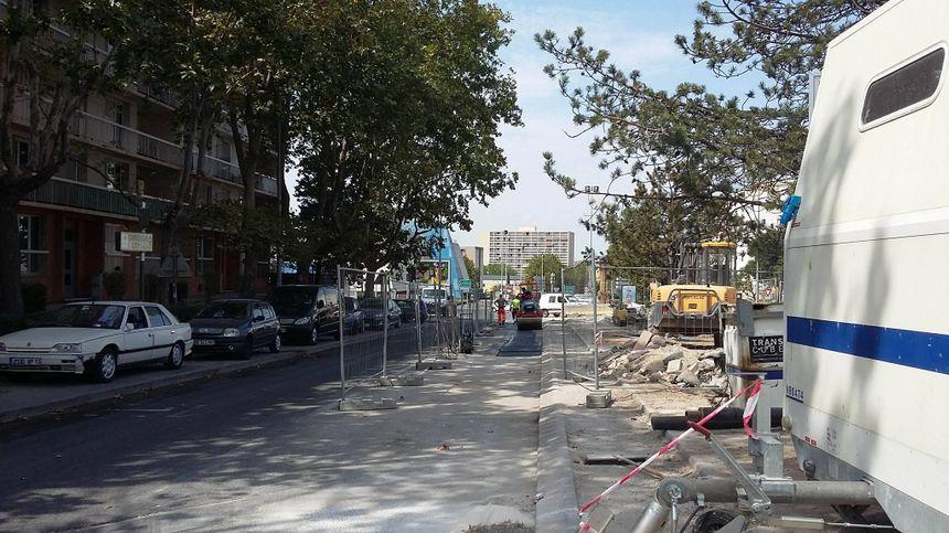 Les travaux côté nord, avenue de l'Europe. - Radio France