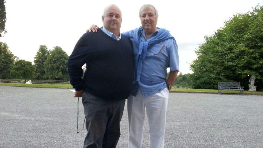 Régis Géraud, éleveur corrézien, et Bebe Quesada, père de l'entraîneur du SF