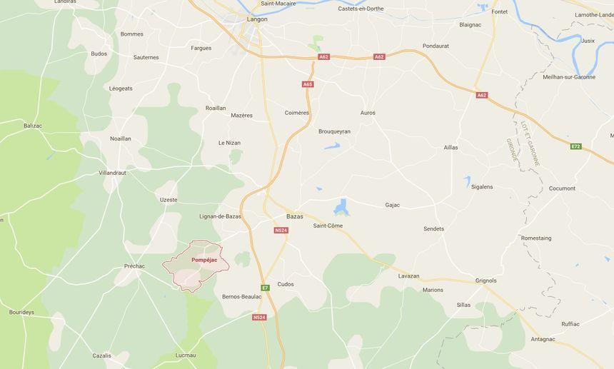 Le feu s'est déclaré sur la commune de Pompéjac. - Aucun(e)