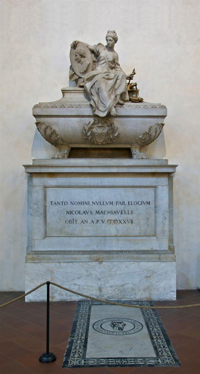 Tombe de Nicolas Machiavel à l'église Santa Croce de Florence