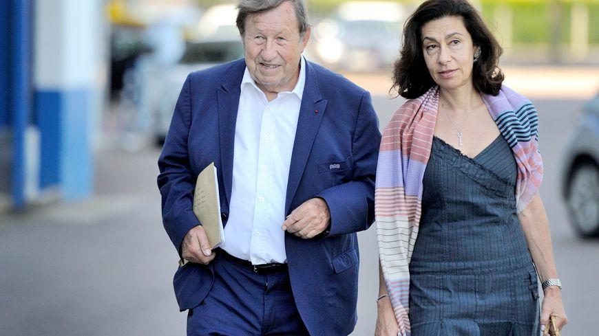 Guy Roux en compagnie de Corinne Limido, l'actionnaire majoritaire de l'AJA