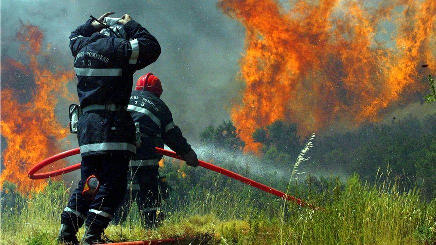Incendie à Coudoux près de Salon-de-Provence, en 2009