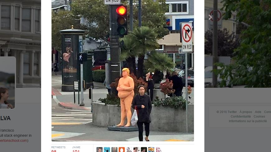 La statue de Donald Trump est apparue dans six villes des Etats Unis