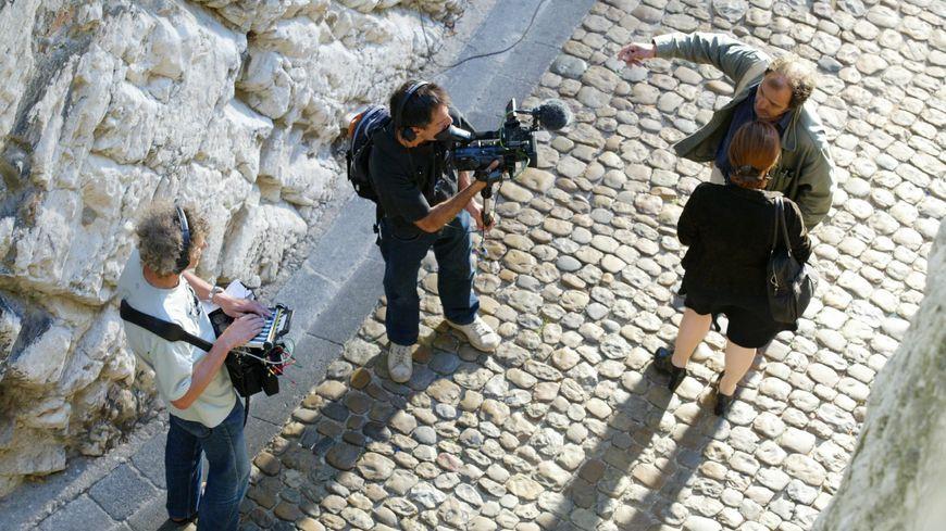 """Tournage de """"Parlez-moi de la pluie"""" à Avignon en 2007"""