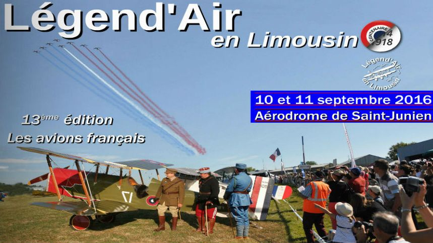 Meeting aérien Légend'Air, à Saint Junien.