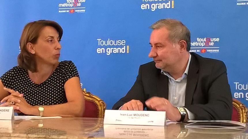 M. Lalanne de Laubadère et Jean-Luc Moudenc ce jeudi 25 août. - Radio France