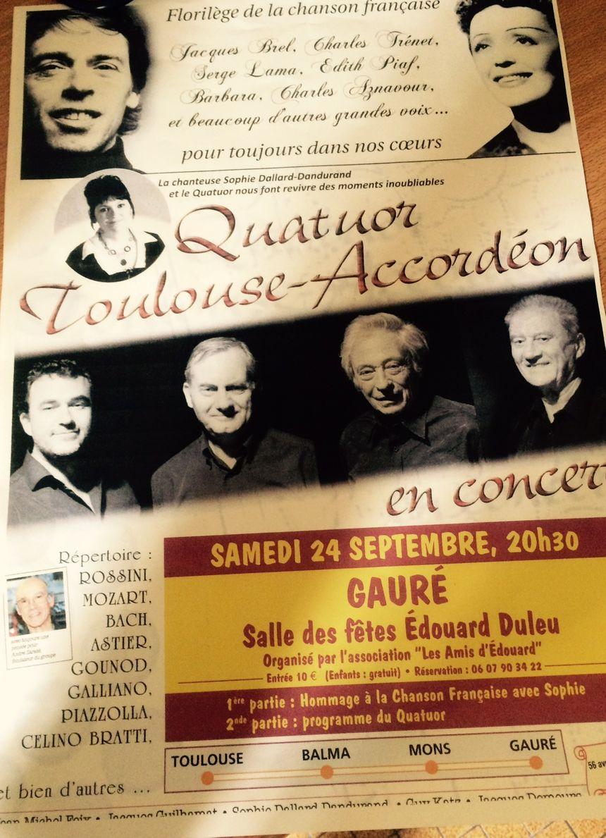 L'affiche du concert du 24 septembre prochain - Radio France