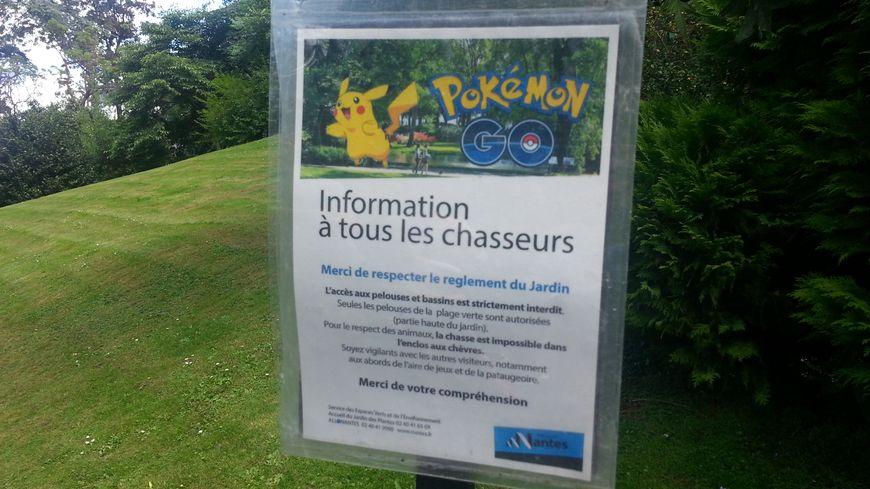 Le Jardin des Plantes de Nantes rappelle les règles à respecter aux chasseurs de Pokémon