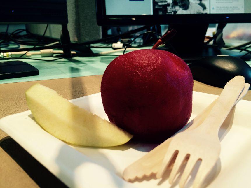 La pomme confite à l'hibiscus   - Radio France