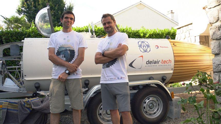 Antoine Delafargue et Michaël de Lagarde (à droite), les deux pilotes du Projet Poisson Pilote. - Aucun(e)