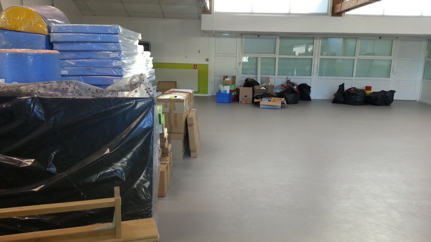 La salle de psychomotricité sert d'entrepôt pour l'instant - Radio France