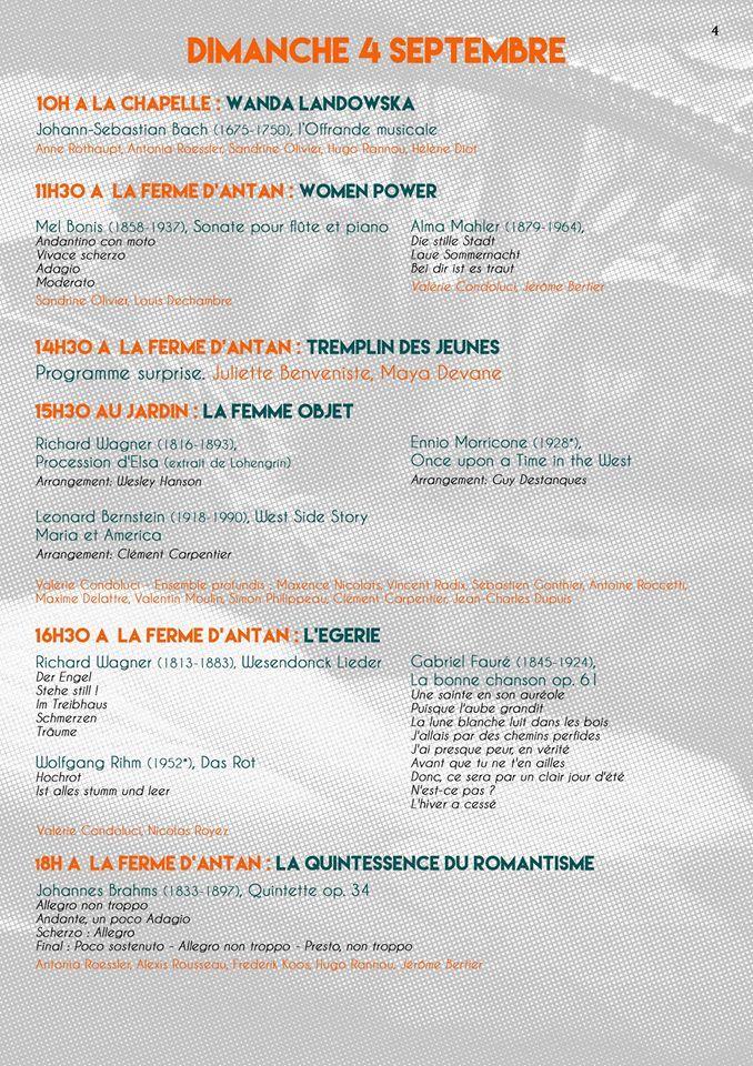 """Programme """"Musique au bois"""" - Aucun(e)"""