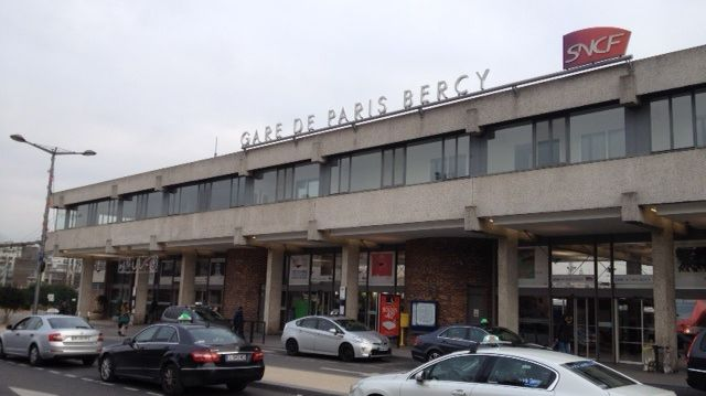 La façade de la gare de Bercy