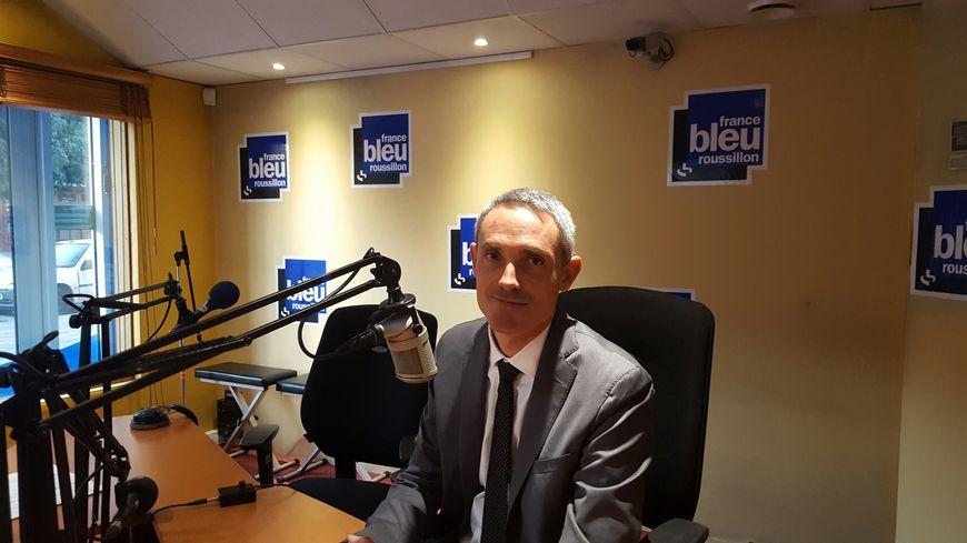 Denis Leluc, le directeur de l'aéroport de Perpignan-Rivesaltes