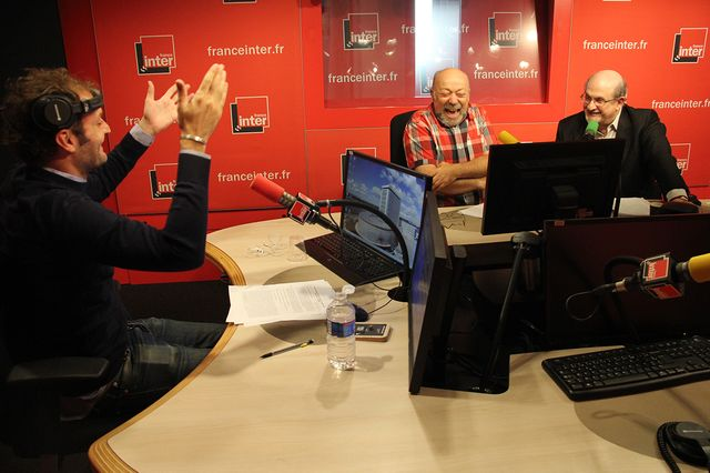 Augustin Trapenard, Michel Zlotowski et Salman Rushdie