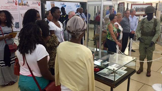 Exposition sur les tirailleurs sénégalais à l'hôtel de ville de Nancy