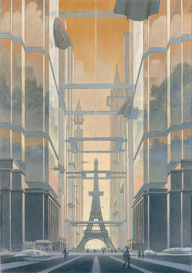 Une image de Revoir Paris, tome 2, avec l'aimable autorisation de Benoît Peeters