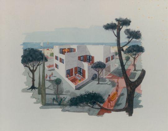 vue d'une villa Georges Candilis 1960 1973