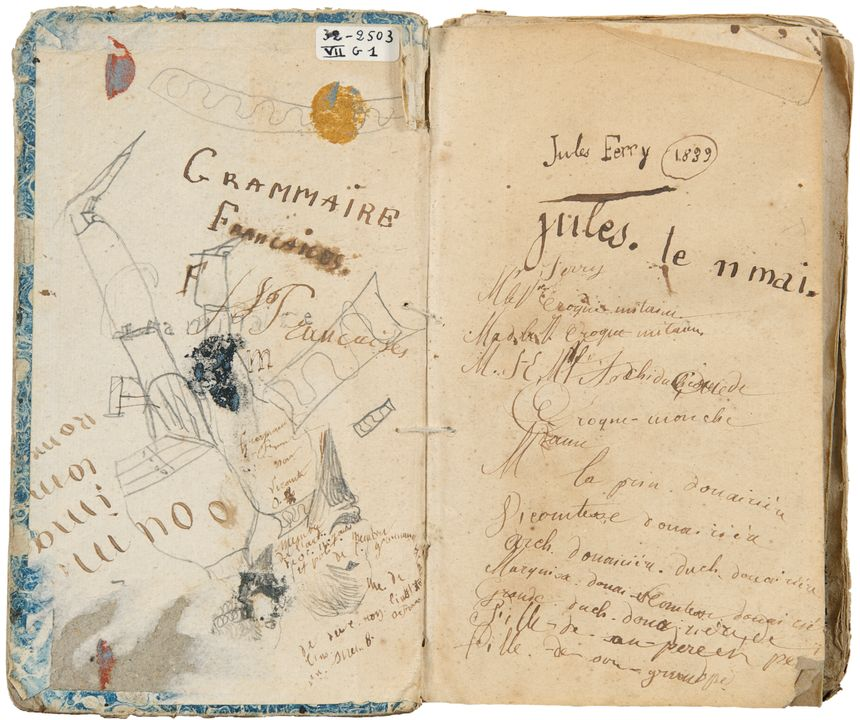 cahier de grammaire de Jules Ferry, musée Pierre Noël - Aucun(e)