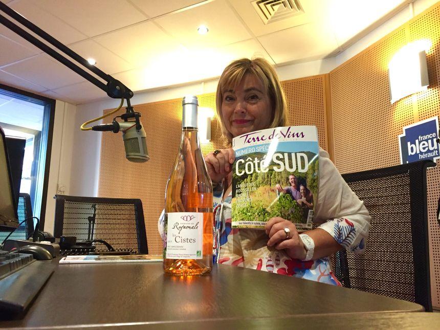"""""""Mon coup de coeur ? C'est ce rosé du Domaine de Roquemale à Villeveyrac. Les Cistes est un rosé bio, fruité avec une belle matière"""" - Sylvie Tonnaire - Radio France"""