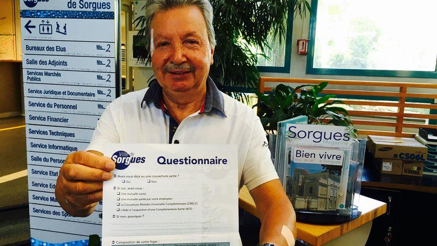 Raymond Petit , adjoint aux affaires sociales de la mairie de Sorgues.