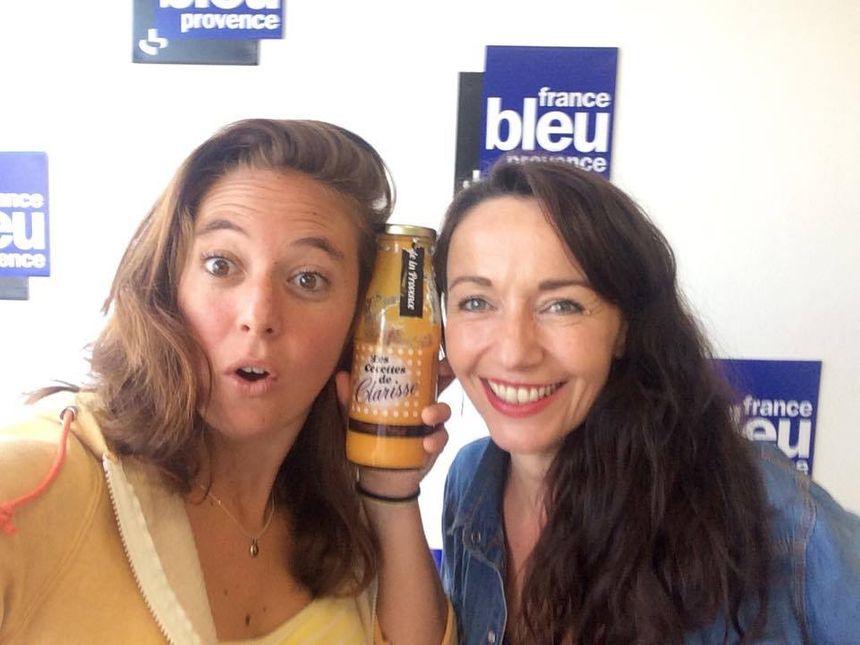 Mélanie Masson(FB Provence) et Clarisse - Radio France