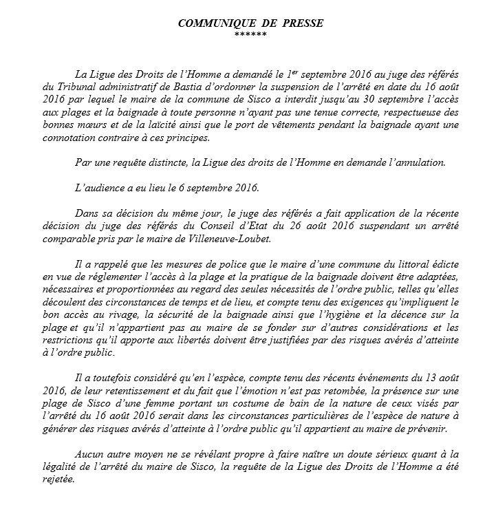 Décision du Tribunal Administratif de Bastia - Aucun(e)