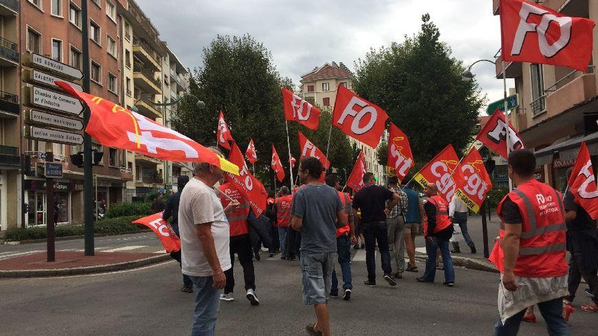 Manifestation contre la loi travail à Annecy. Ils étaient un peu plus de 400 ce jeudi.